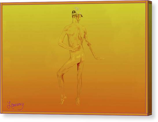 Male Nudes Canvas Print - Male Naif by Laurence Wolfe