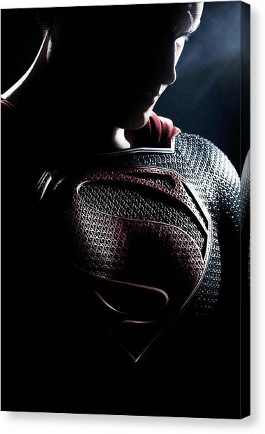 Character Portraits Canvas Print - Man Of Steel 2013 by Fine Artist