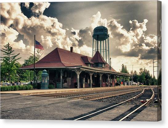 Train Conductor Canvas Print - Manassas Train Station by Gene Sizemore