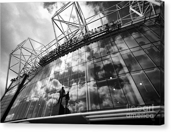 Manchester united football club canvas print manchester united old trafford stadium uk by joe fox