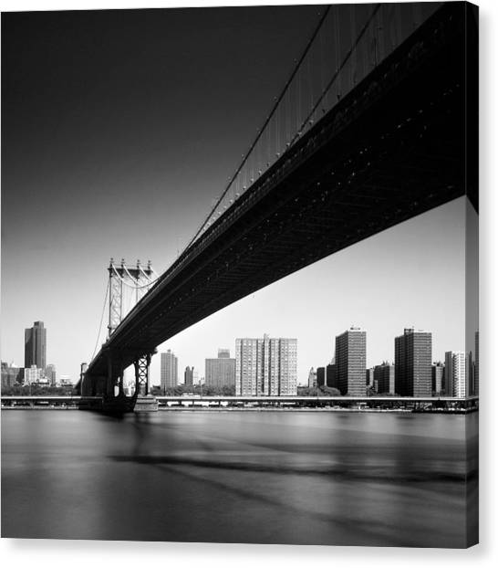 New York Skyline Canvas Print - Manhattan Bridge by Nina Papiorek