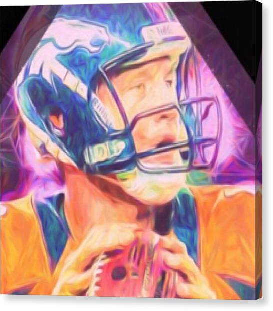 Indianapolis Colts Canvas Print - #manning #peyton #peytonmanning by David Haskett II