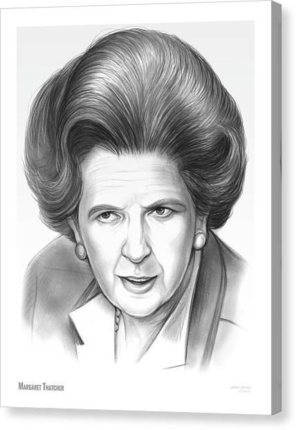 Pencils Canvas Print - Margaret Thatcher by Greg Joens