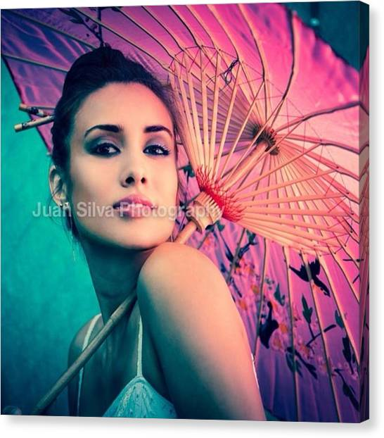 Women Canvas Print - Mariana Ivanovna Fashion Shoot Mariana by Juan Silva
