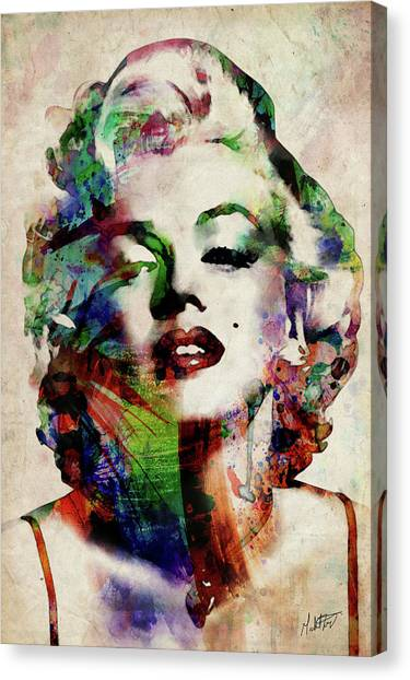 Actors Canvas Print - Marilyn by Michael Tompsett