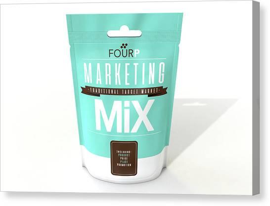Ingredient Canvas Print - Marketing Mix 4 P's by Allan Swart