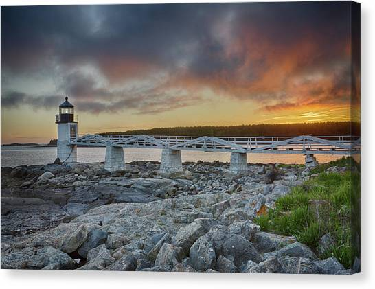 Marshall Point Lighthouse At Sunset, Maine, Usa Canvas Print