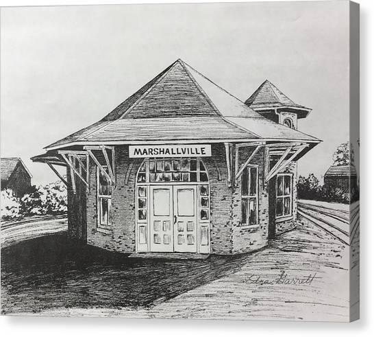 Marshallville Depot Canvas Print