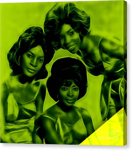 1972 Canvas Print - Martha And The Vandellas Collection by Marvin Blaine