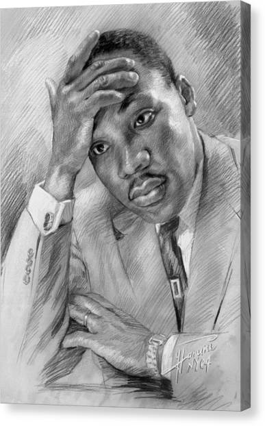 Kings Canvas Print - Martin Luther King Jr by Ylli Haruni
