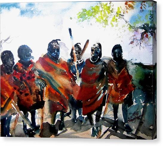 Masaai Boys Canvas Print