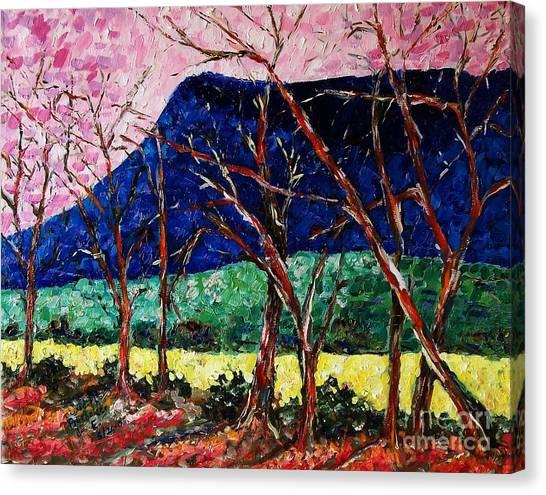 Massanutten Peak Awaiting Spring Canvas Print