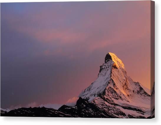 Matterhorn Canvas Print - Matterhorn At Sunset by Jetson Nguyen