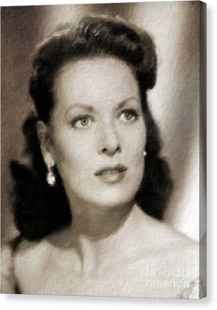 Maureen Canvas Print - Maureen O'hara, Vintage Hollywood Legend by Mary Bassett