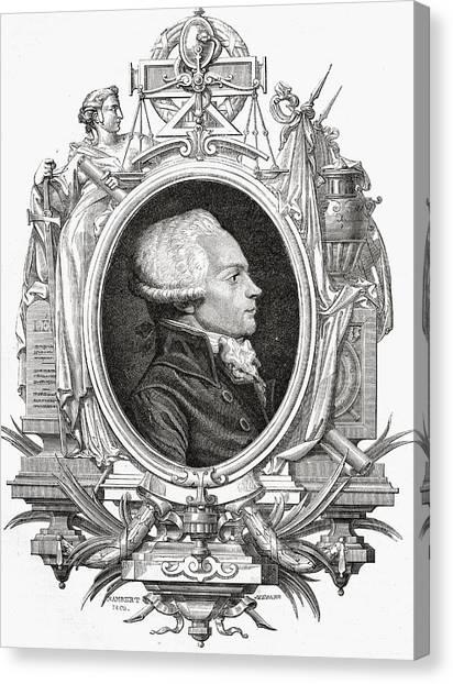 Maximilien Robespierre, 1758-1794 Canvas Print by Vintage Design Pics