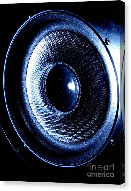 Speakers Canvas Print - Mean Speaker by Olivier Le Queinec