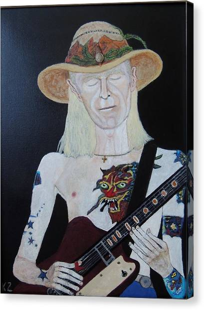 Mean Town Blues.johnny Winter. Canvas Print
