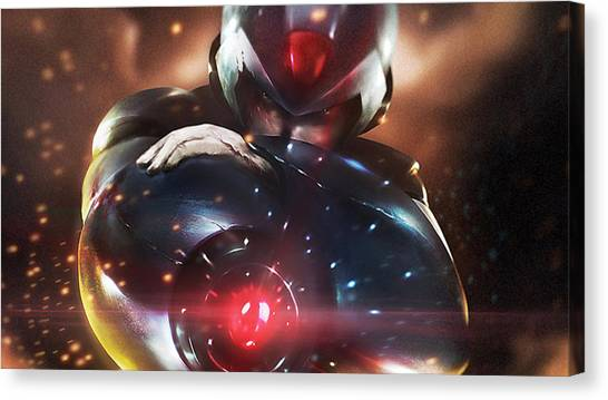 Mega Man Canvas Print - Mega Man by Maye Loeser