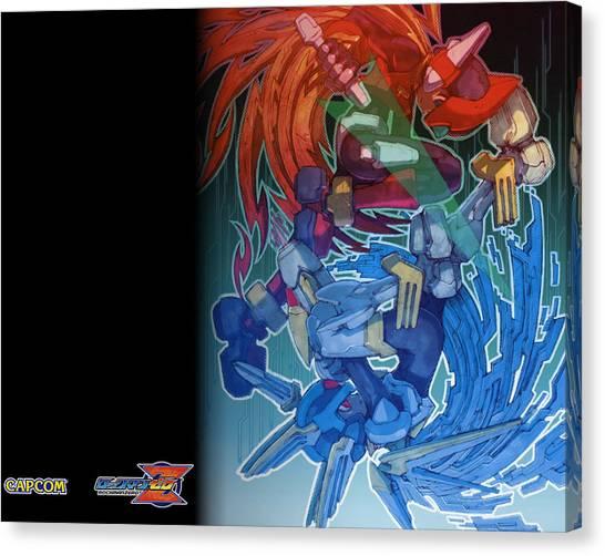 Mega Man Canvas Print - Mega Man by Mery Moon