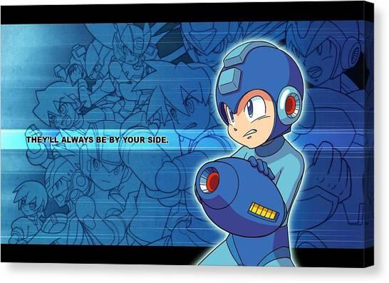 Mega Man Canvas Print - Mega Man by Penelope Gow