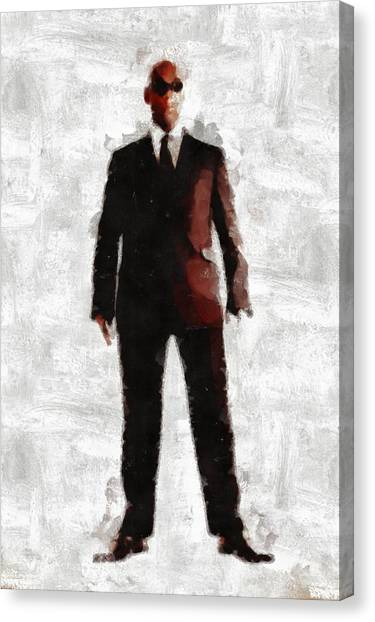 Cia Canvas Print - Men In Black Series By Mb And Rt by Raphael Terra