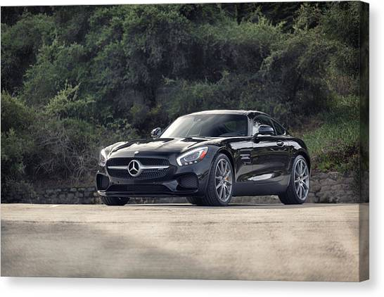 Canvas Print featuring the photograph #mercedes #amg #gts by ItzKirb Photography