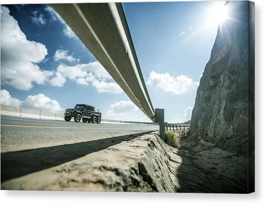 Mercedes G63 6x6 In Oman Canvas Print