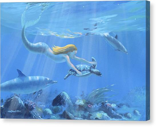 Mermaid Fantasy Canvas Print