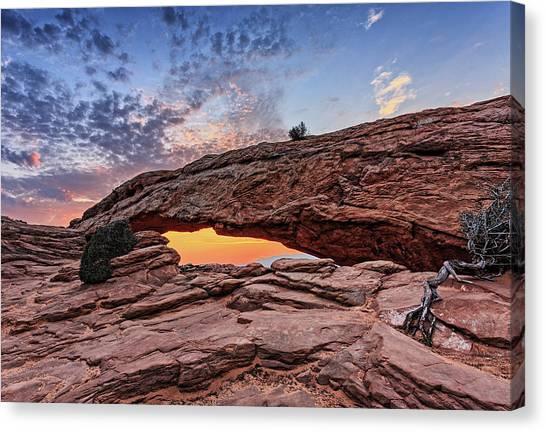 Mesa Arch At Sunrise Canvas Print