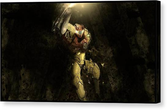 Metroid Canvas Print - Metroid by Dorothy Binder