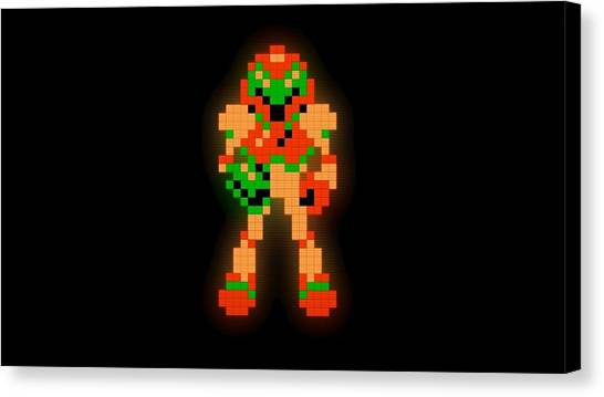 Metroid Canvas Print - Metroid by Karen Ford