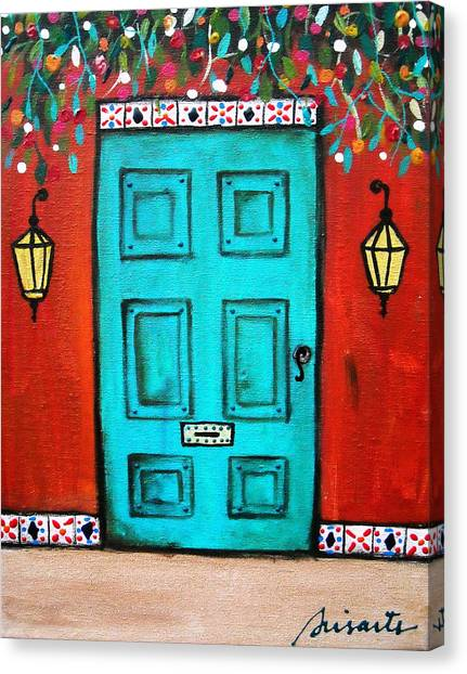 Mexican Door Painting Canvas Print
