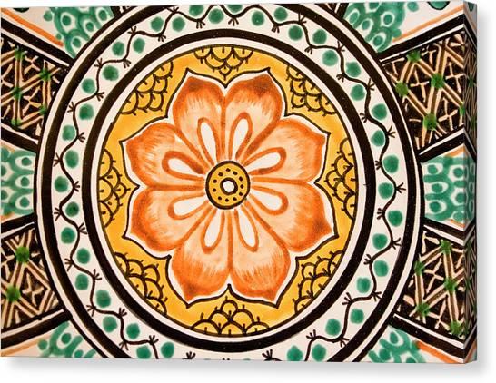 San Miguel De Allende Canvas Print - Mexican Tile Detail by Carol Leigh