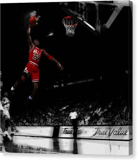8f0e54adc9d3 Jumpman Canvas Print - Michael Jordan Lift Off by Brian Reaves