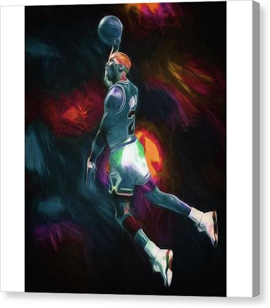 Gamer Canvas Print - #michaeljordan #jordan #airjordan #23 by David Haskett II