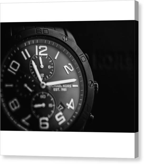 Watch Canvas Print - #michaelkors #kors @michaelkors @fossil by David Haskett