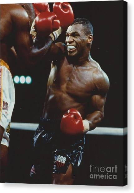 Mike Tyson Canvas Print - Mike Tyson 2 by Dennis ONeil