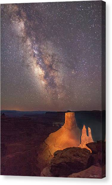 Milky Way At Marlboro Point Canvas Print