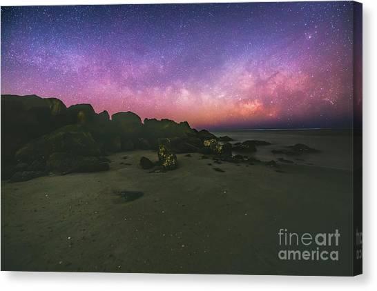 Milky Way Beach Canvas Print