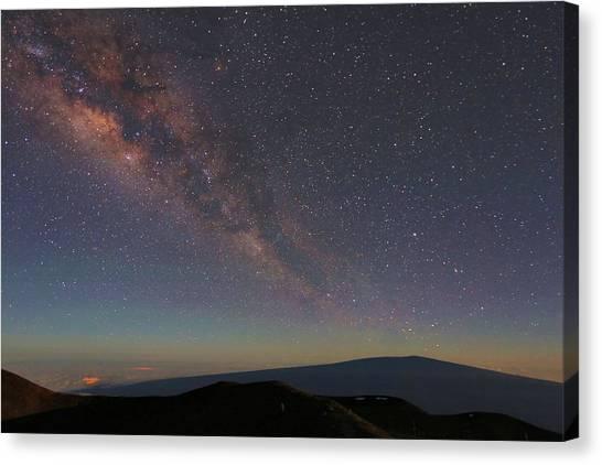 Milky Way Over Mauna Loa Canvas Print