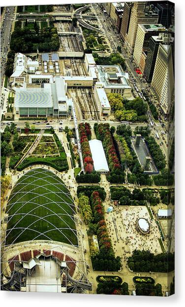 Cloudgate Canvas Print - Millennium Park In Chicago by Andrew Soundarajan
