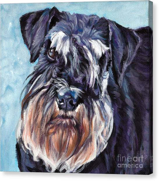 Schnauzers Canvas Print - Miniature Schnauzer by Lee Ann Shepard