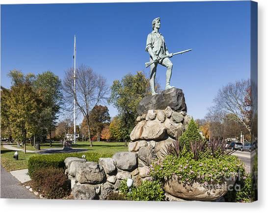 New England Revolution Canvas Print - Minute Man Sculpture by John Greim