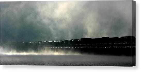 Misty Crossing Canvas Print by Marie-Dominique Verdier