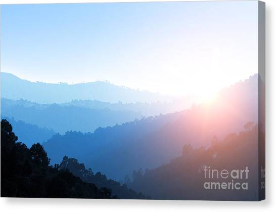 Foggy Forests Canvas Print - Misty Valley by Carlos Caetano