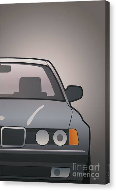 Planet Canvas Print - Modern Euro Icons Series Bmw E32 740i by Monkey Crisis On Mars