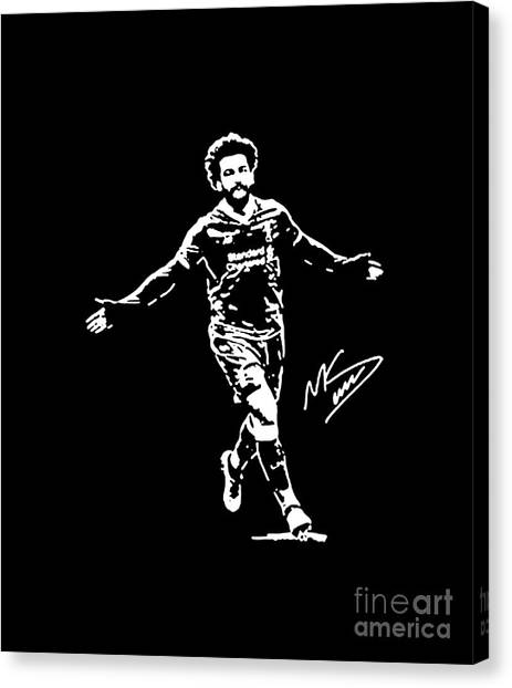 Liverpool Fc Canvas Print - Mohammed Salah by David Reus