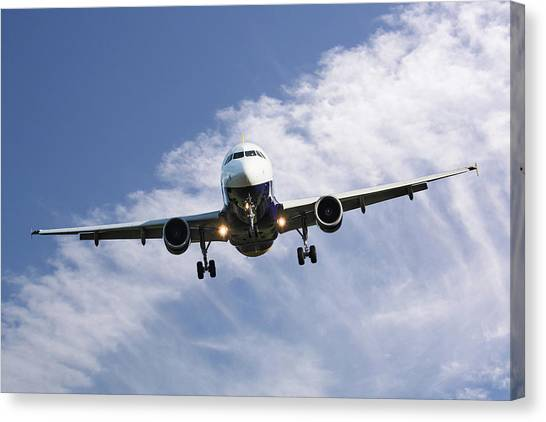 Airlines Canvas Print - Monarch Airlines Airbus A320-214 by Smart Aviation