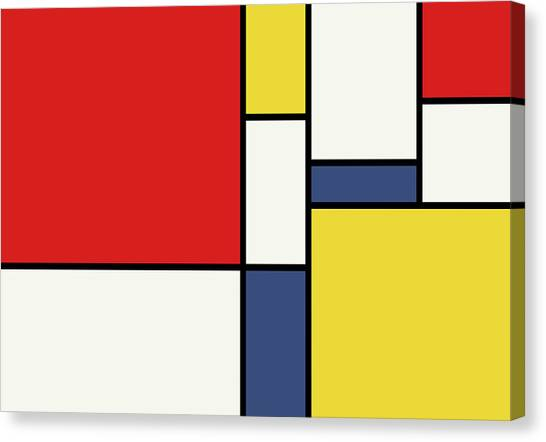 Grunge Canvas Print - Mondrian Inspired by Michael Tompsett