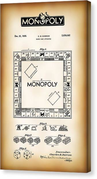 Railroad blueprint canvas prints page 3 of 4 fine art america railroad blueprint canvas print monopoly board game patent art 1935 by daniel hagerman malvernweather Choice Image